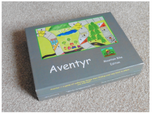 Aventyr , The mountain bike edition, board game, dice, counters, bike, bike board game, bicycle board game, mountain bike board game, mountain biking board game, bicycle orienteering, mountain bike orienteering, trailquest, checkpoints, hazards, hills, mountains, throw the dice, scoresheets, time sheet, the gamecrafter, ivory graphics, game maker, cambridge, print on demand, artisan board game , quad fold board, berwick upon tweed, northumberland, northman games, cycling board game, fun board game, easy to play,